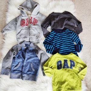 Gap sweaters and long sleeve tees bundle 2T